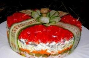 салат подарок фото