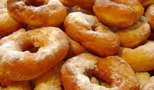 воздушные пончики на кефире фото