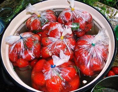Рецепт помидоров засоленных в пакетах
