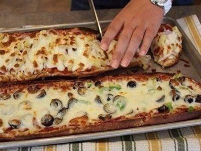 Пицца-хлеб за 10 мин