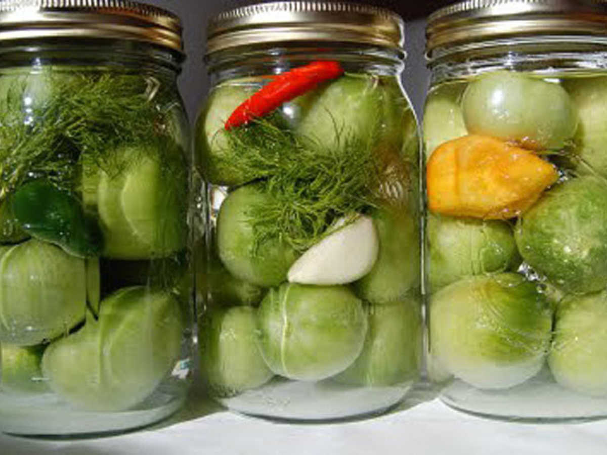 Зеленые и бурые помидоры на зиму рецепты