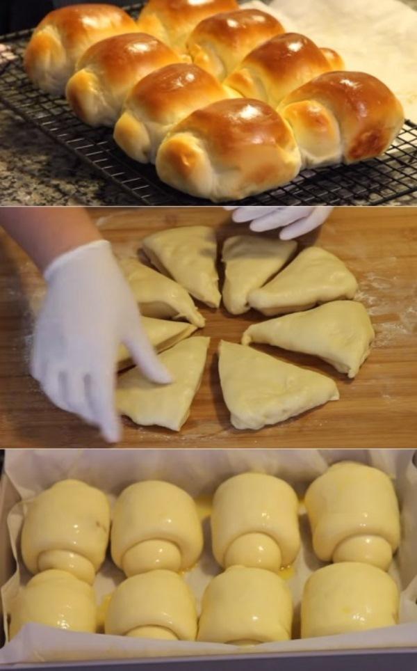 Мудрость японских пекарей поражает. Тесто для булочек «Хоккайдо» увеличивается в 3 раза!