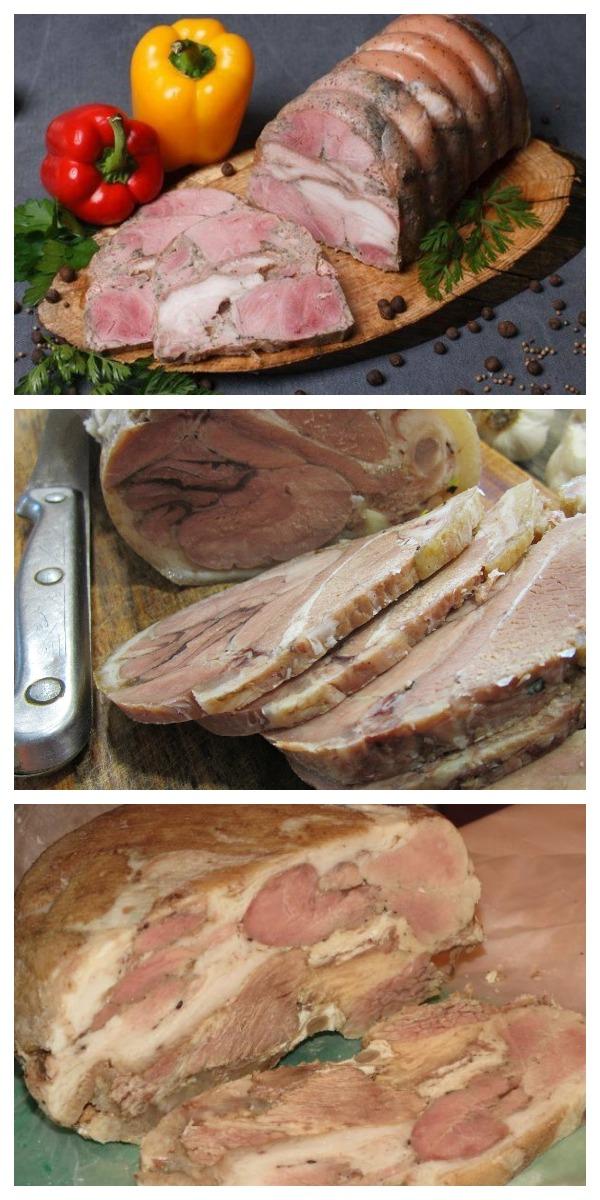 """Прессованное мясо из рульки """"Чесночное"""" - очень вкусно и бюджетно! Изумительный деликатес за копейки! Попробуйте сами!"""