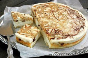 Такое пирожное с творожной начинкой подходит даже на праздничные чаепития!