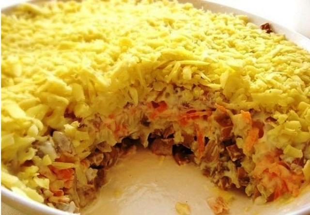 Салат «Белая ночь» - шикарный вкусный салатик