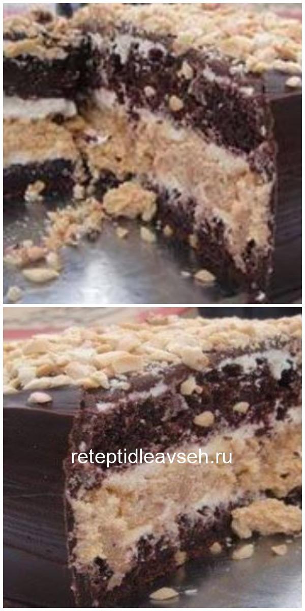 Вкусный торт Сникерс вкуснее шоколадного батончика