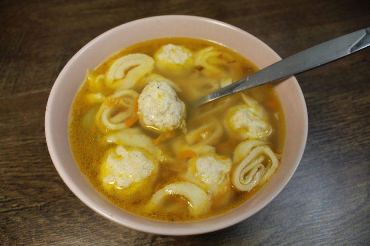 Блины в супе