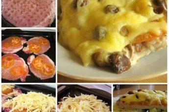Мясо по-купечески с грибами - обалденный вкус