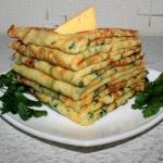 сырные блинчики с петрушкой