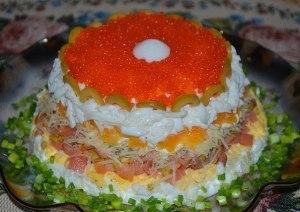 слоёный салат жемчужина фото