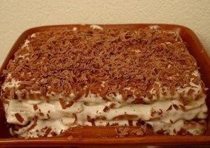 торт из печенья с бананом фото