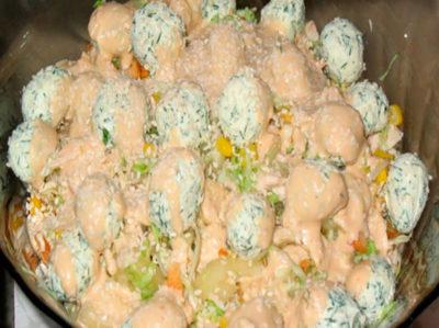 Оригинальный салат с многогранным вкусом