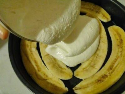 творожно банановой запеканкой