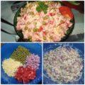 Обалденный салат с помидорками и ветчиной