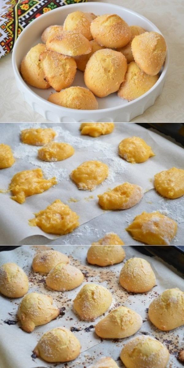 Сахарное печенье «Сахарные великаны». Более простого рецепта не встречала. А вкусно как!