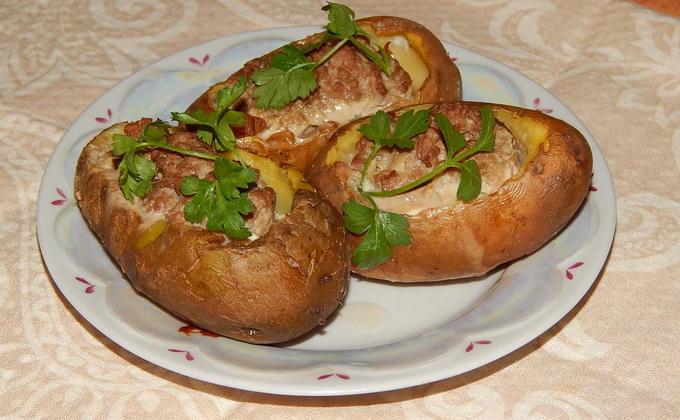 Фаршированный картофель мясом и грибами. БЕСПОДОБНЫЙ, АРОМАТНЫЙ И НЕЖНЫЙ. Мням...