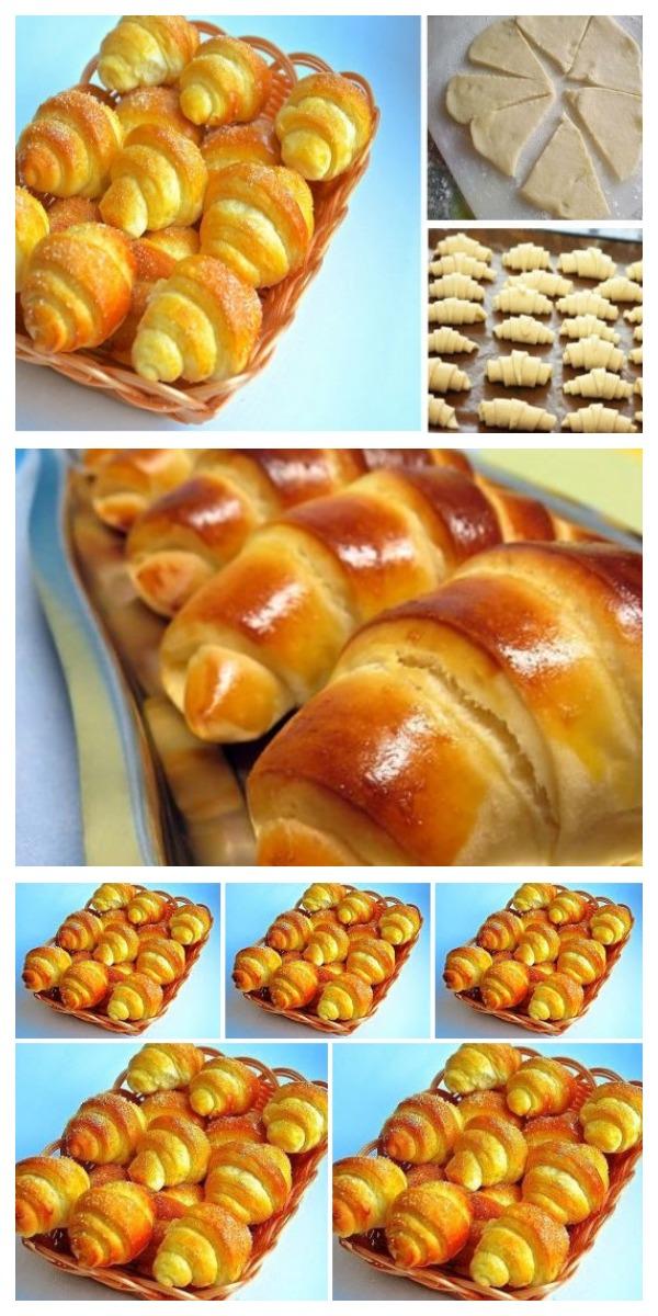 Рецепт дня — обалденные рогалики с божественно вкусного теста!