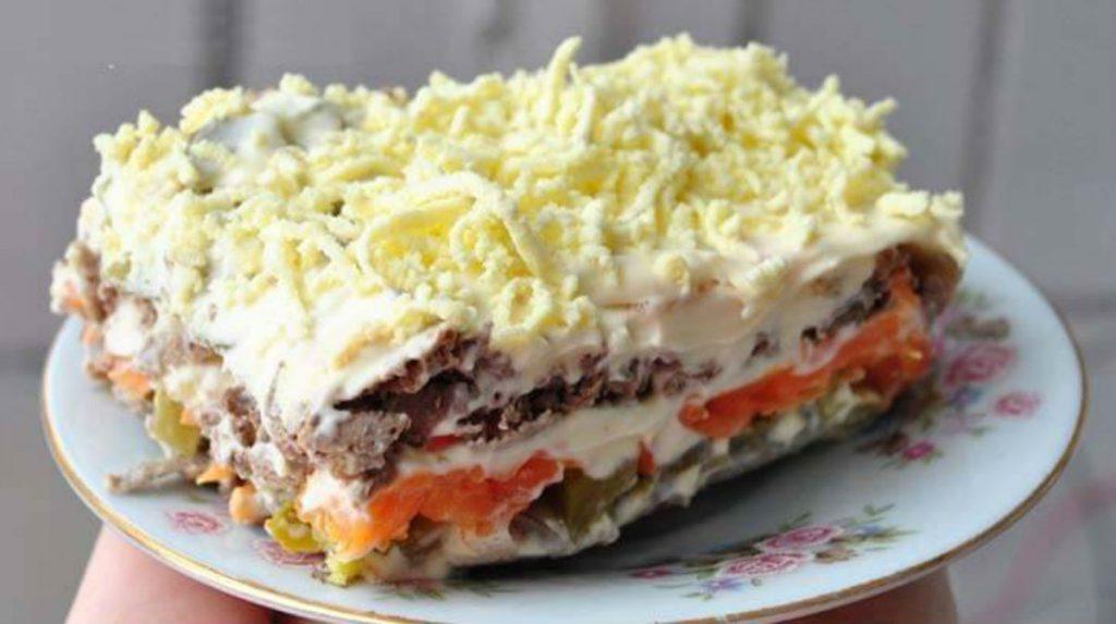 Печеночный салат - классный салат