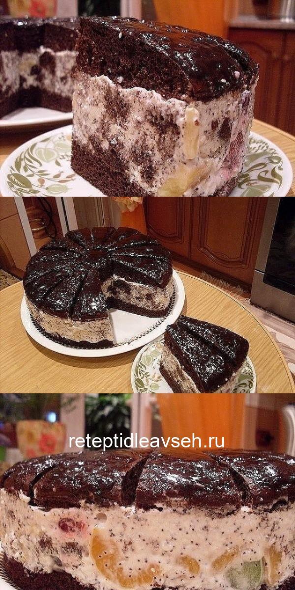 Восхитительный торт Африканская ромашка настоящий экзотический десерт.