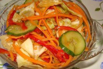 Всеми любимый салат из капусты и огурцов по-корейски!